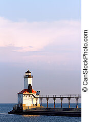Michigan City, Indiana Lighthouse - The East Pierhead Light...