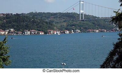 bridge - Fatih Sultan Mehmet Bridge at istanul Turkey