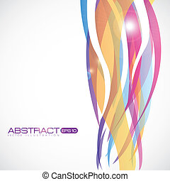 colored stripes - illustration of colored stripes isolated...