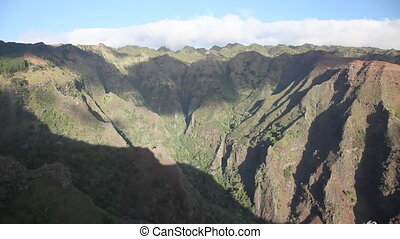 Marquesas - Canyon at Nuku Hiva, Marquesas Archipel, French...