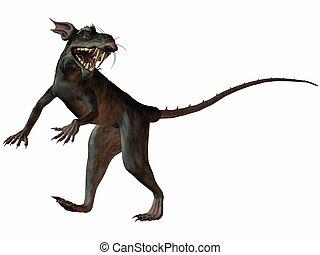Monster Rat - 3 D Render of an Monster Rat