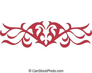 A graphic tribal stencil