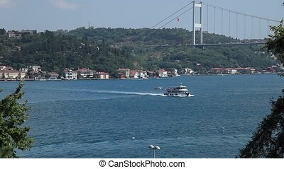 passenger ship passing bosphorus