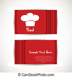 business card with chef's hat - illustration of a business...