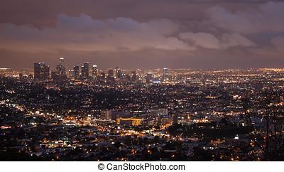 Los Angeles Panorama Skyline at Night