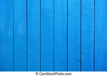 Blue Painted Wood Planks as Background or Texture