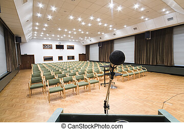 conference room - empty conference room with microphone...