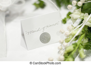 maid of honor - wedding name tag for the maid of honor