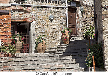 medieval alley in Tuscany