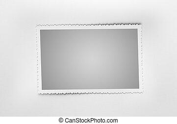 Photo frame - Old photo frame isolated on white background