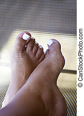 Relaxing Feet After Pedicure