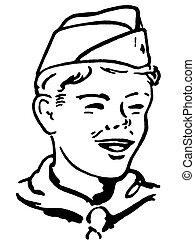 Portrait of a boy scout