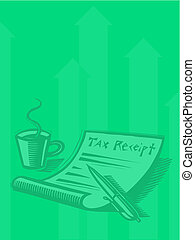 Illustration of a tax receipt