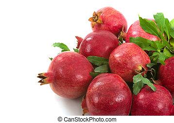 Organic Pomegranates - Organic pomegranates from my garden