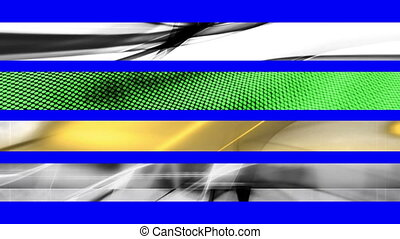 Lower Thirds Blue Screen A22 - Four Looping Abstract Blue...