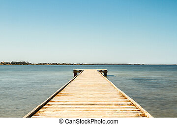 a empty old wooden pier