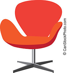 Modern, comfortable, elegant and stylish chair illustration...