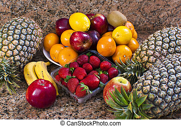 Tropical Fruits - Assorted tropical fruits close up