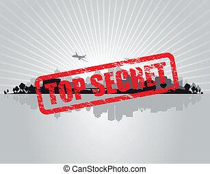 top secret cityscape background