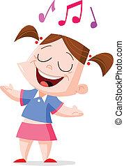 Singing girl - Young girl singing