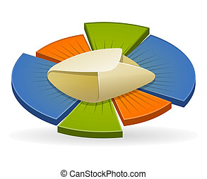 Email Marketing Icon - Colorful illustration of pie chart...