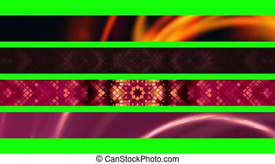 L3rds Green Screen X77 - Four Looping Abstract Green Screen...