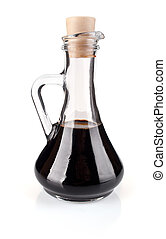 balsamic vinegar isolated on white background