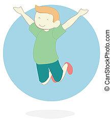 boy jump