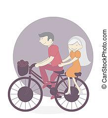 couple bicycle