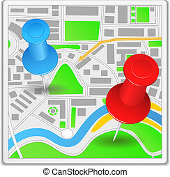 Abstract map icon