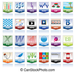 Documents Icon Set for web design