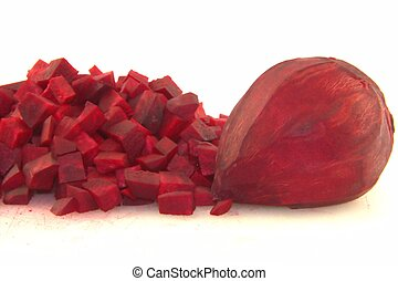 Beetroot vegetable on white background