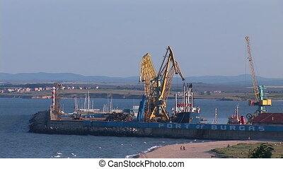 burgas port - cargo port in the Bulgarian city of Burgas