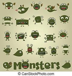 Doodle monster set