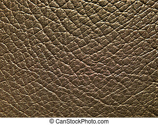 Brown leather texture - Close-up of brown leather texture