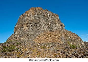 Basalt rock - Beautiful rocks made of hexagonal basalt...