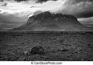 Herdubreid is one of the most beautiful Icelandic volcanos,...