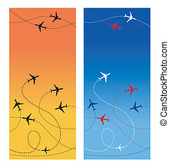 Air travel 2 - Air travel Vertical two cards All lines are...