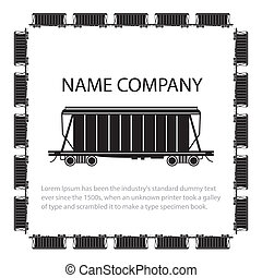 Hopper Car - Invitation card with american style hopper car,...