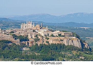 Panoramic view of Orvieto. Umbria.