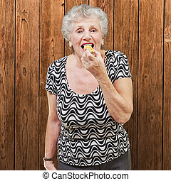 Mature Woman Eating