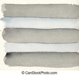 Watercolour painting - grey stripes in two shades