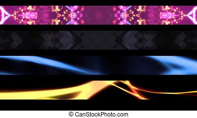 Four Abstract Lower Thirds X24 - Four Abstract Looping Lower...