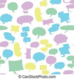 seamless speech bubbles