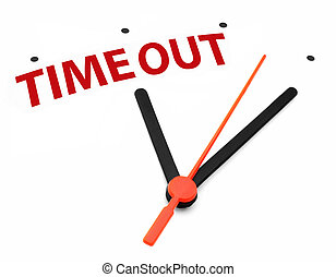 Time out - Taking time out clock concept