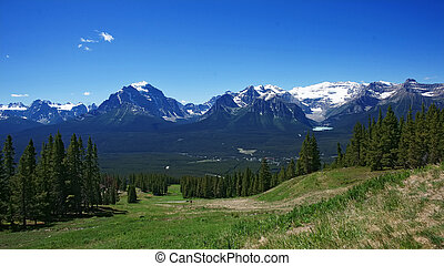 Canadian Rockies in national park - Scenic summer panoramic...