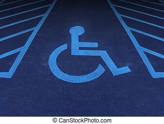 Handicapped And Disabled - Handicapped and disabled symbol...