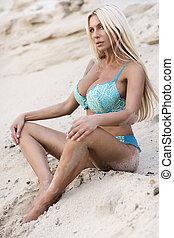 bikini, mode, modèle