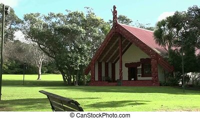 Meeting House at Waitangi grounds - The maori meeting house...