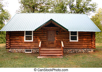 Little Log Cabin - a little rustic log cabin in the woods